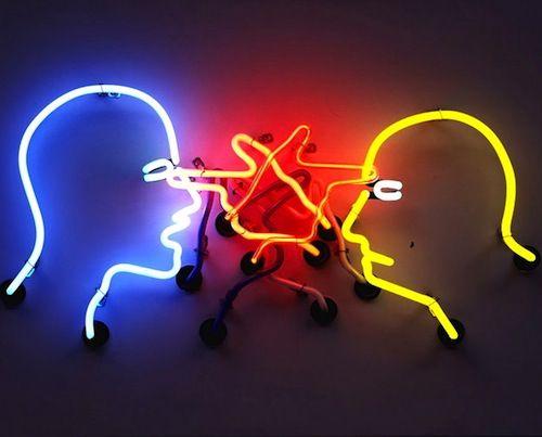 Double poke in the eye - Bruce Nauman | Neon art, Cool neon signs, Online  art