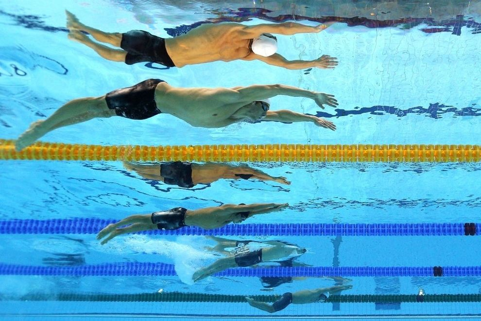 8 photos of olympics swimmers spotted from below - Olympic Swimming Pool Underwater