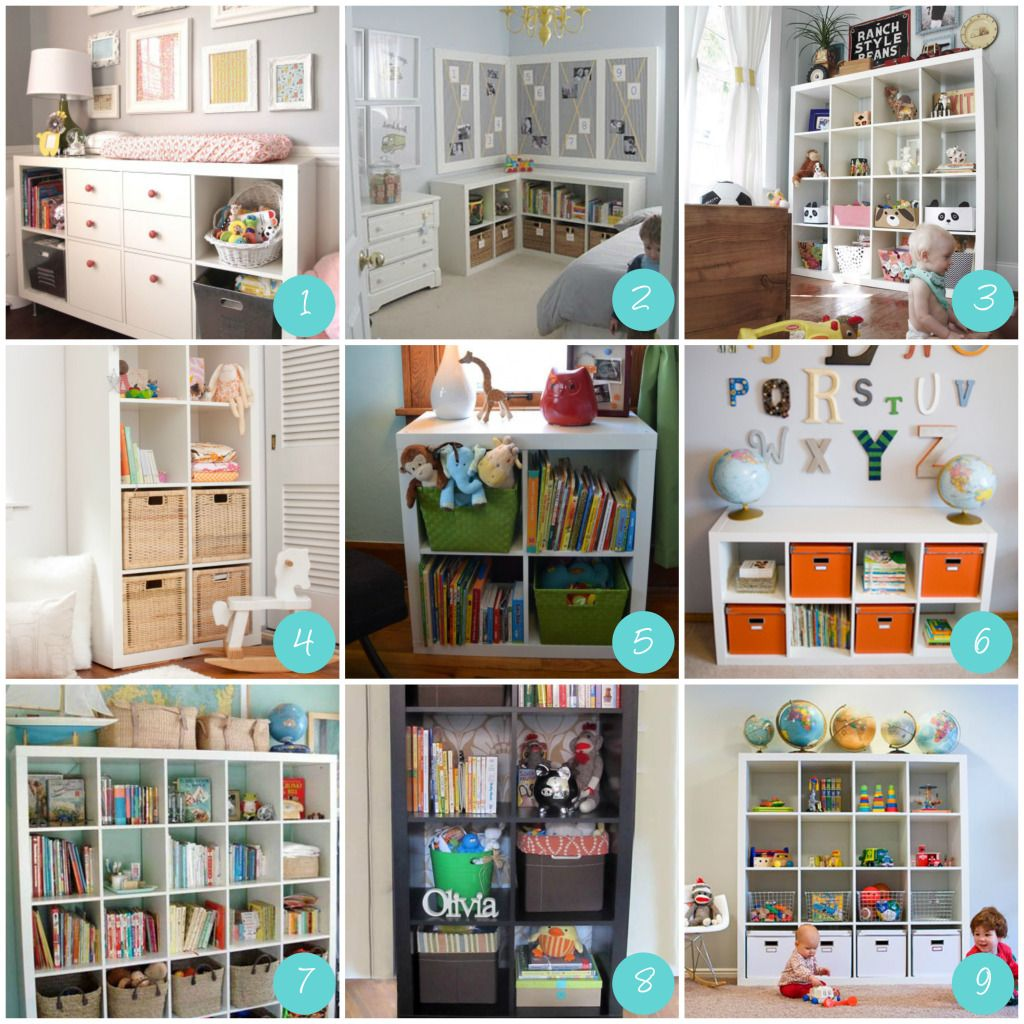 Small toy room ideas love the different basket ideas for for Kids room toy storage