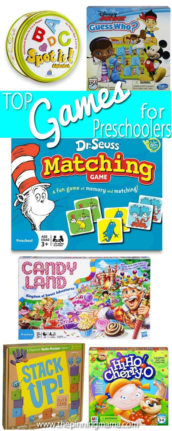 Best Game ideas for preschoolers! Perfect for a family