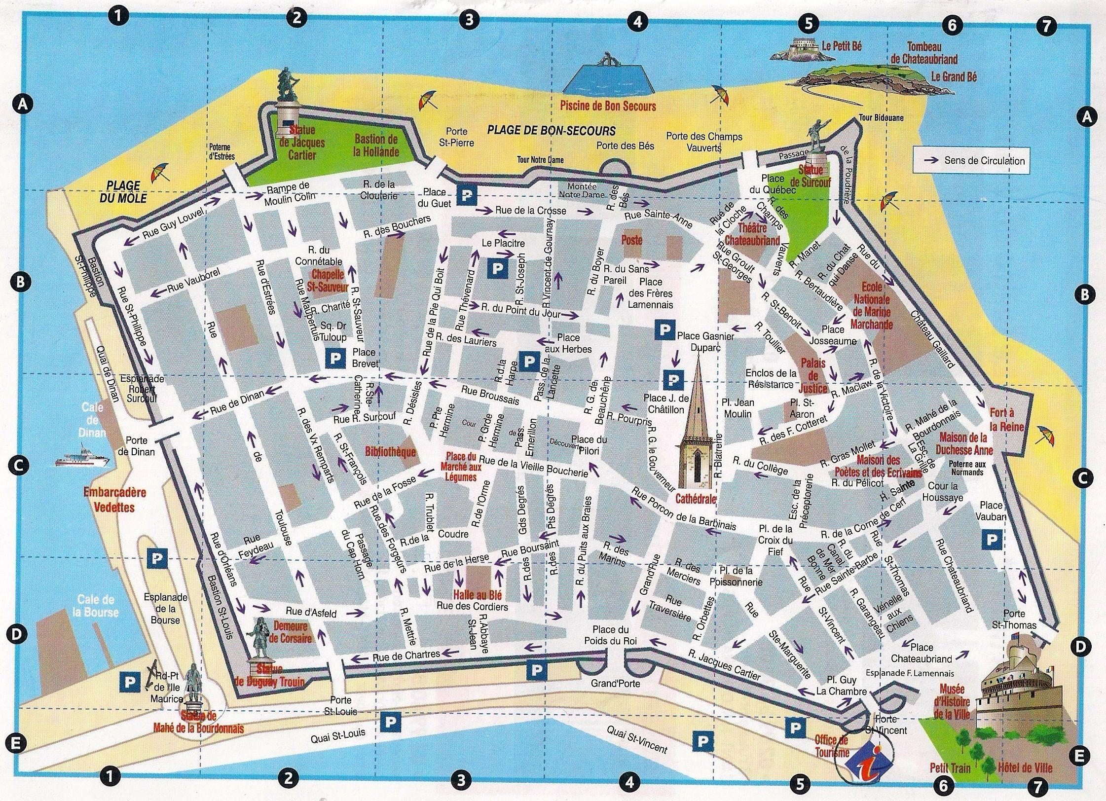 Plan de Saint-Malo - Voyages - Cartes