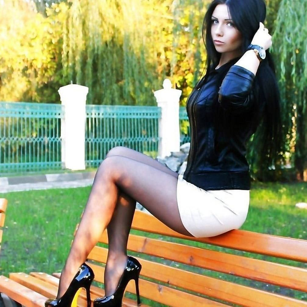 Girls With Short Skirts And Great Nylon Covered Legs