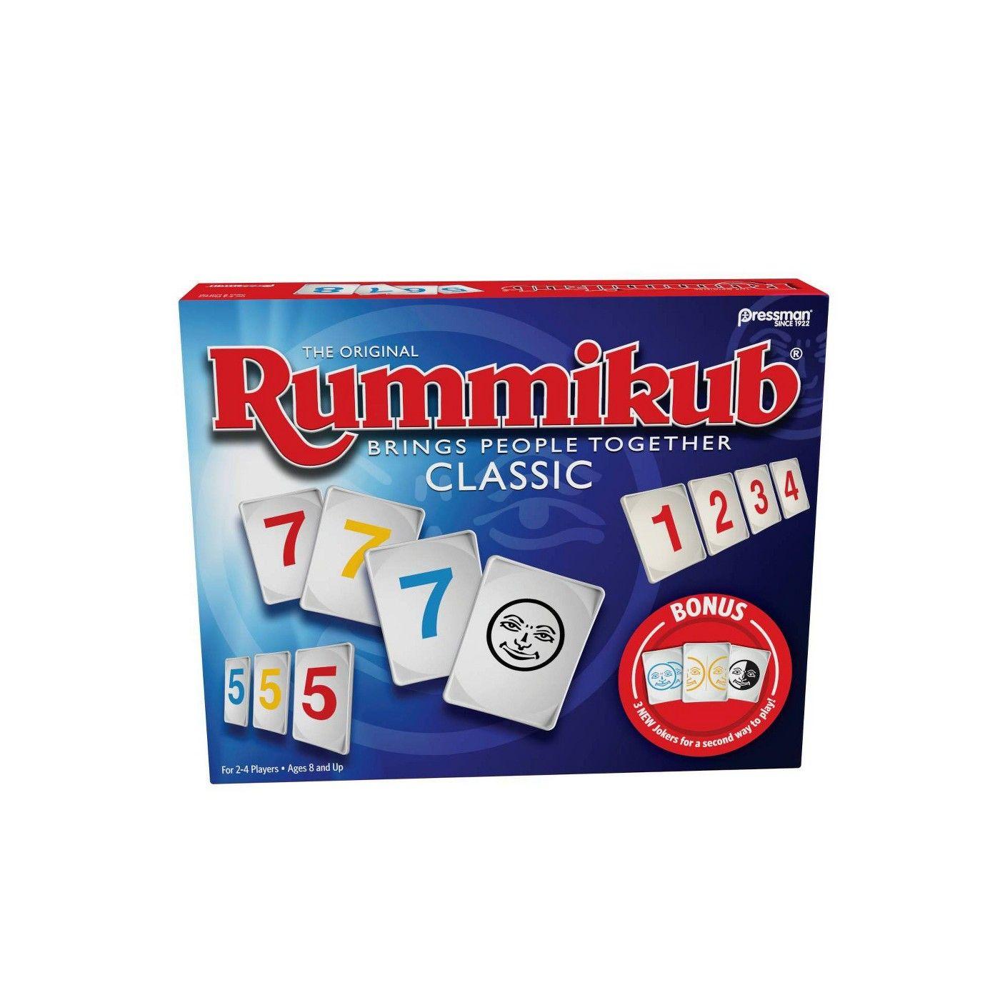 Rummikub with Bonus Jokers Game Classic Pressman