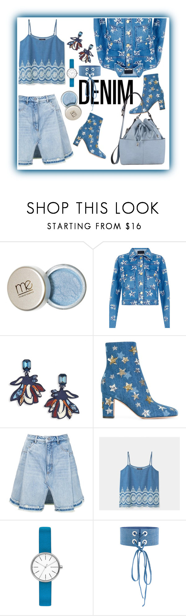 """Denim Head To Toe"" by mizzura ❤ liked on Polyvore featuring House of Holland, Tory Burch, Valentino, T By Alexander Wang, Violeta by Mango, Skagen, Manokhi and Miss Selfridge"