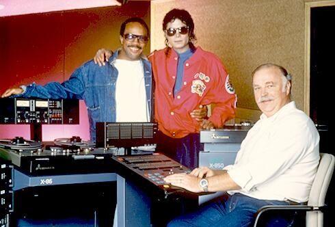 Michael Jackson, Bruce Swedien, and Quincy Jones. | Michael jackson, Michael jackson bad era, Michael jackson bad
