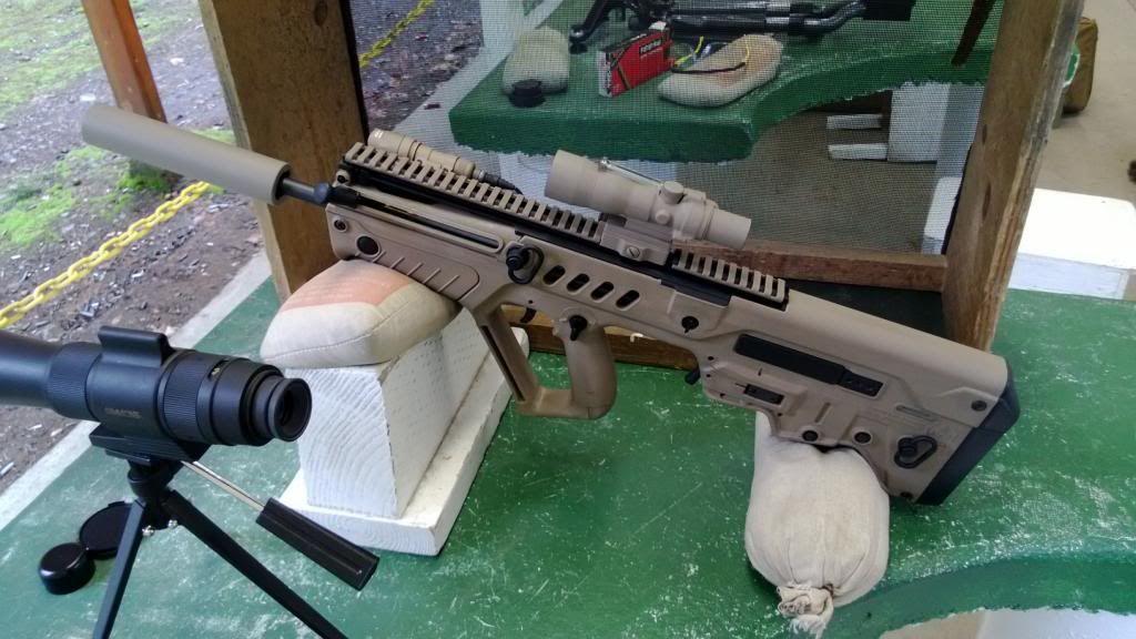 Suppressed FDE Tavor Shooting sports, Guns, Sports