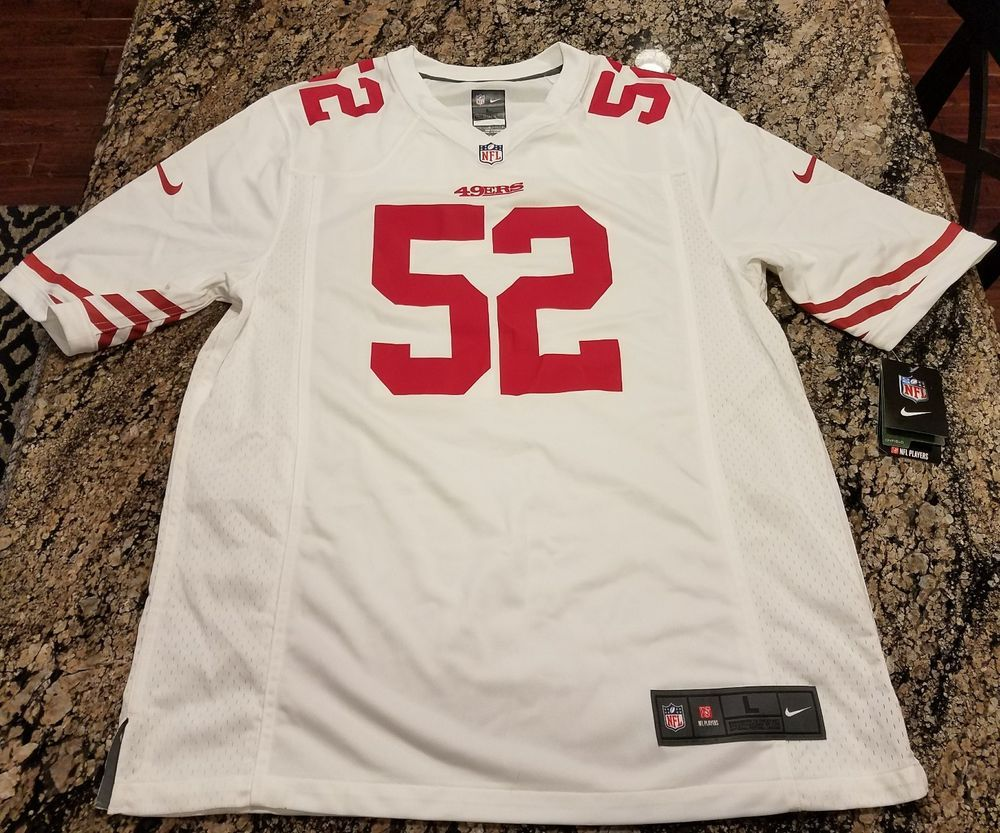 patrick willis nike on field san francisco 49ers nfl jersey mens large