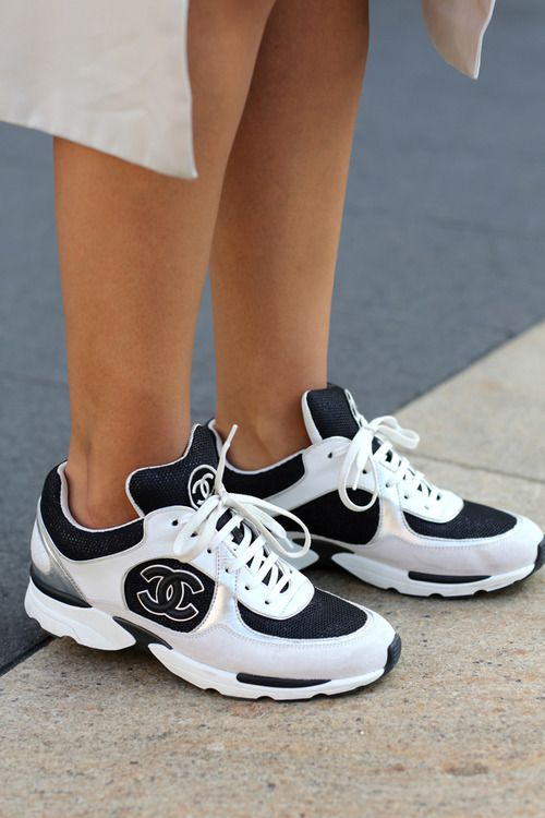shoes, Sneakers fashion, Chanel sneakers