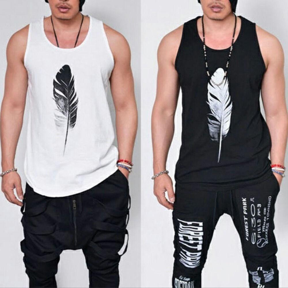 d894bc1492 #Gym #Men #Muscle #Sleeveless #Tee #Shirt #Tank #Top #Bodybuilding #Sport # Fitness #Vest