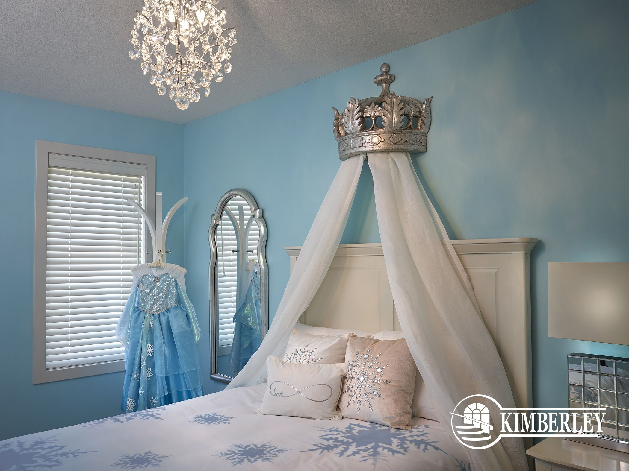 This Frozen themed bedroom is sure to impress the kids in your life! The  Opal