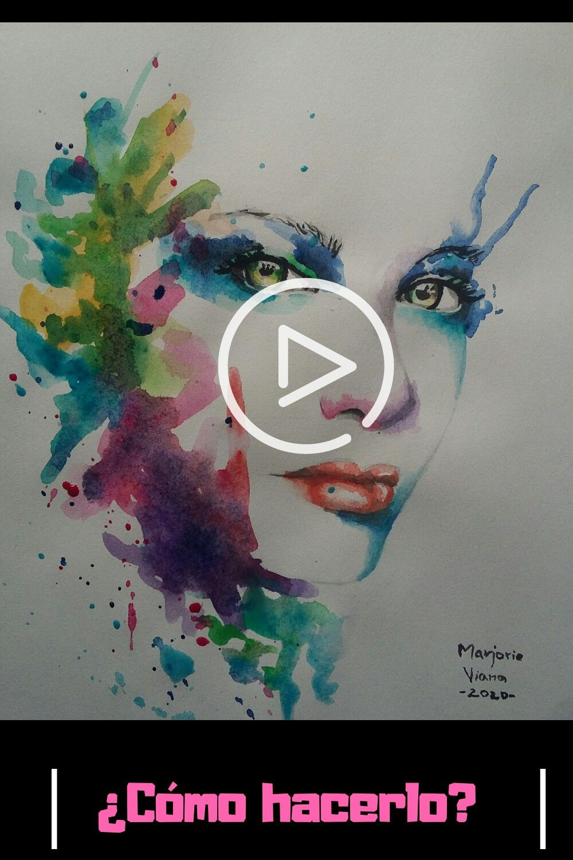 Abre para ver el proceso. #arte #pintura #watercolor #portrait #retrato #acuarela #Facil
