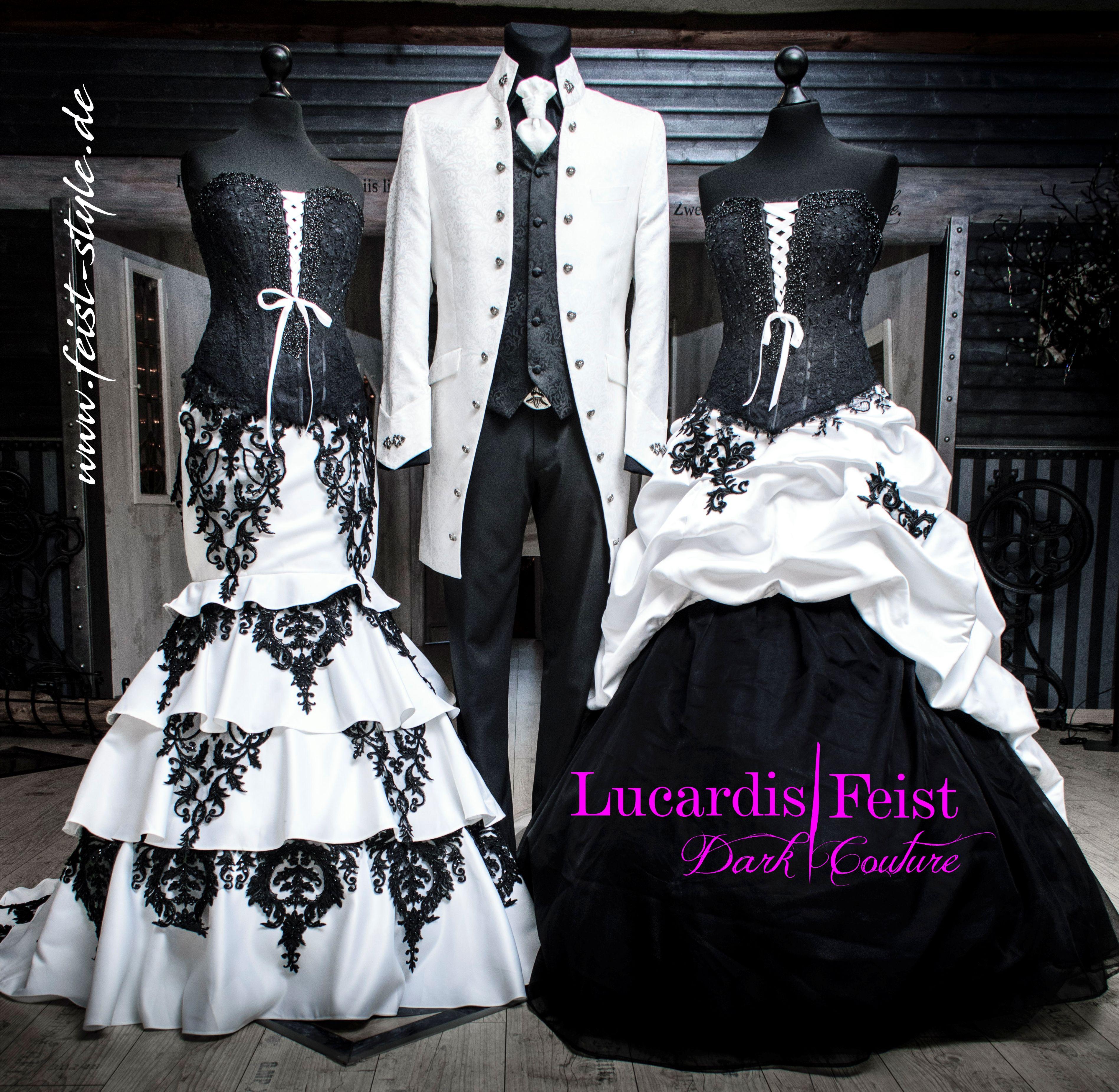 Extraordinary Wedding Lucardis Feist Dark Couture Wedding Suits Groom Extravagant Wedding Dresses Black Wedding Dresses [ 3704 x 3795 Pixel ]