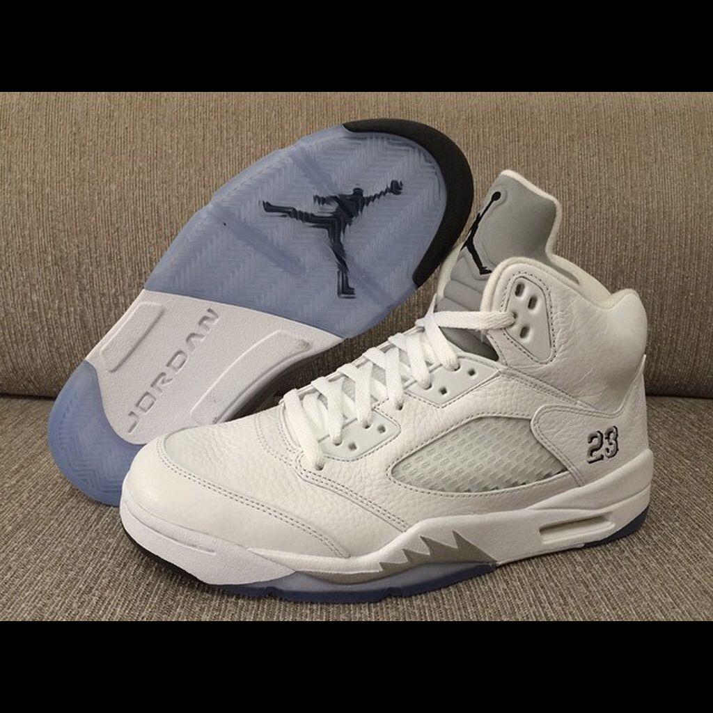 buy popular dacc0 6f219 Jordan Shoes   Jordan Metallic 5s   Color: Silver/White ...