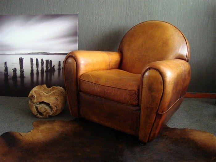 Art Deco Stijl : Schapenleren art deco stijl fauteuil in goede staat marktnet