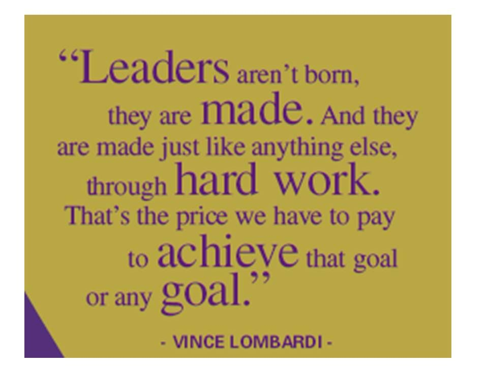 Vince Lombardi leadership quote | Executive Development Center at