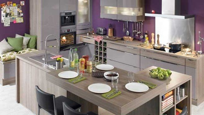 Crédences colorées pour cuisine enjouée ! | Kitchen living rooms ...