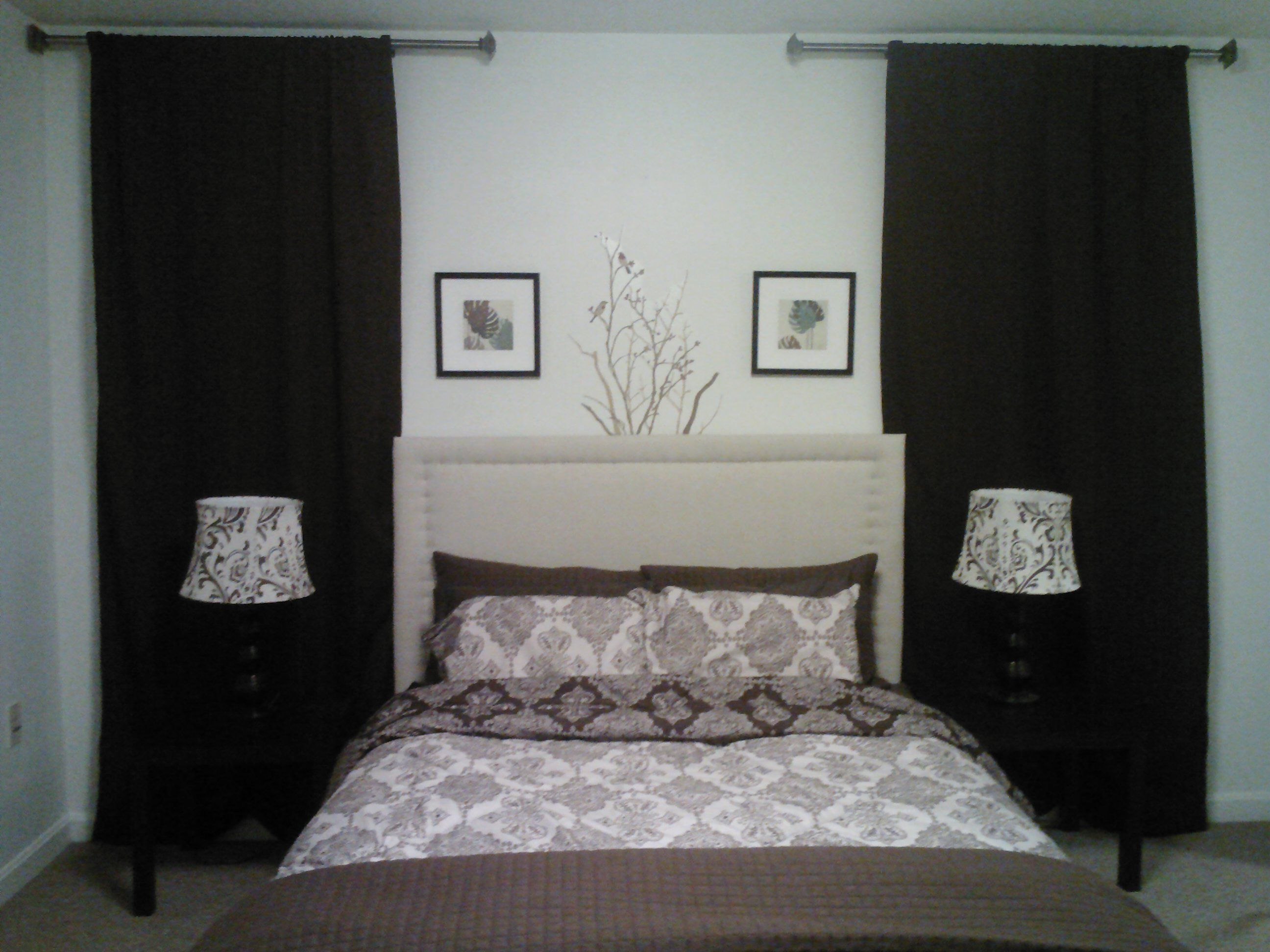 DIY headboard completed for 30 bucks and