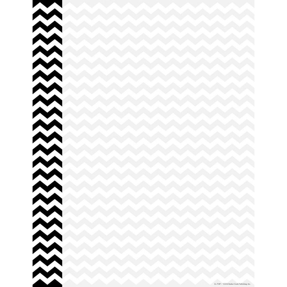 Barker Creek Computer Paper 8 1 2 X 11 Inches Black Chevron 50 Sheets Computer Paper Barker Creek Black Sheets