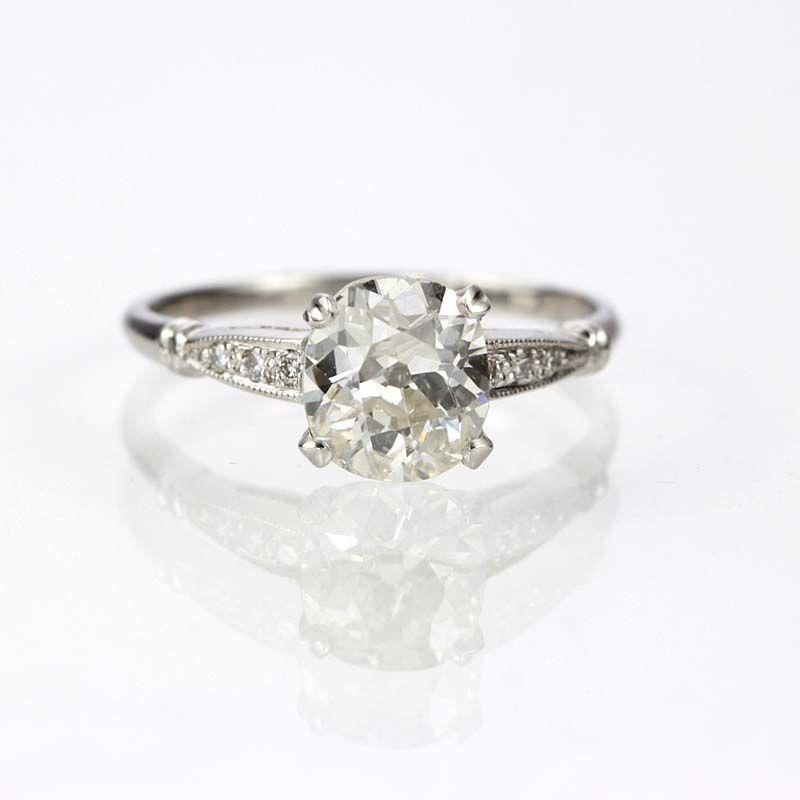 ab06e8450fe9 Replica Art Deco Engagement Ring - 3082-11 Anillos Con Diamantes De  Compromiso