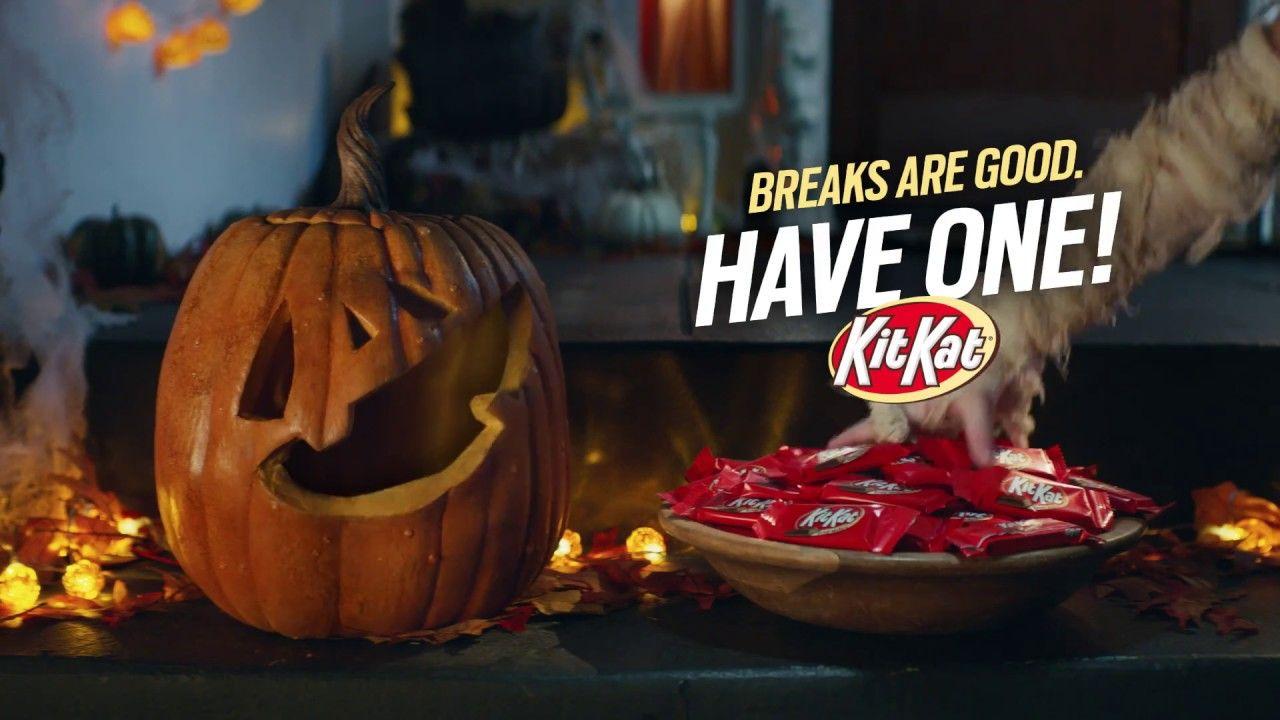 kit kat halloween tv commercial   talking pumpkin   funny