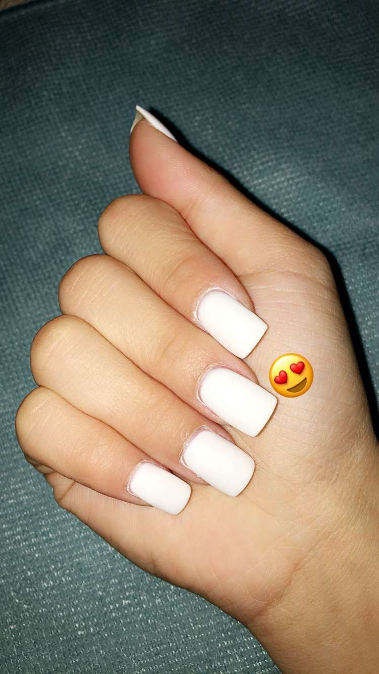 White Dip Powder Powder Nails White Acrylic Nails Dip Powder Nails