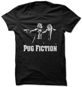 Pug Fiction - for her for teens. Pug Fiction, creative gift,hoodie for teens.