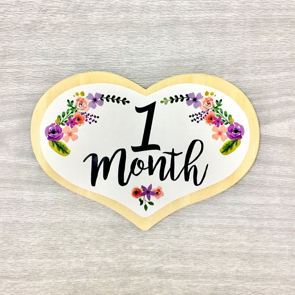 Wooden Heart Monthly Milestone Baby Milestone Shapes Baby Milestones Baby Age Blocks Baby Shower Inspiration