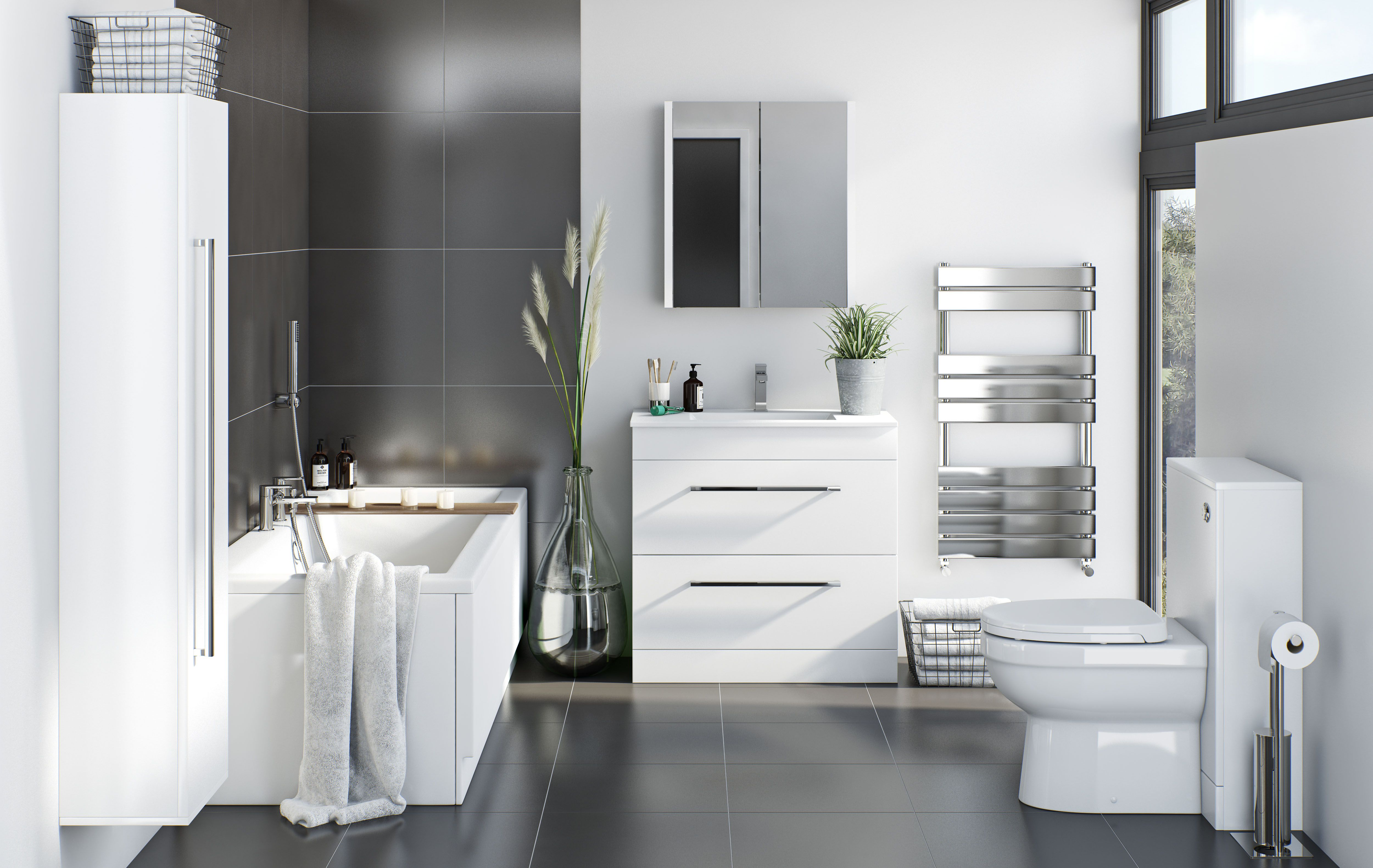 Storage has never been so stylish. The Chamonix bathroom furniture ...
