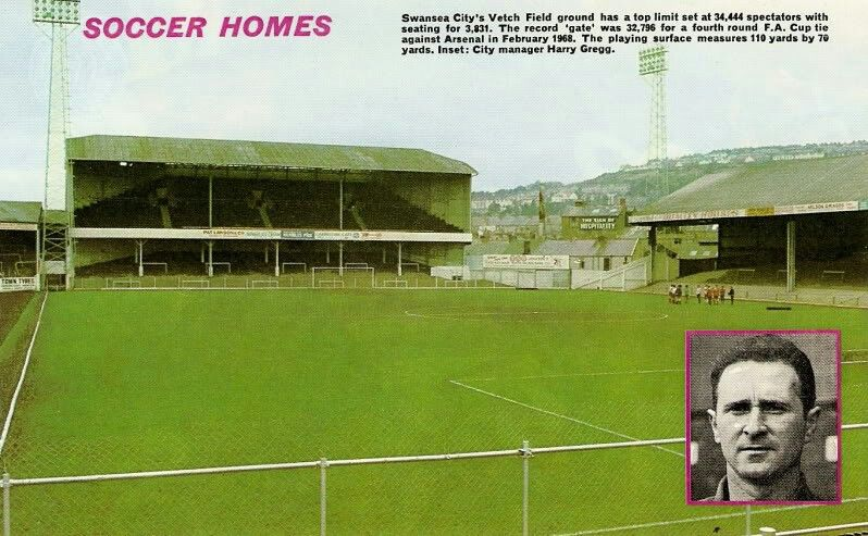 The Vetch Field Swansea City In The 1970s Swansea City City Manager Swansea