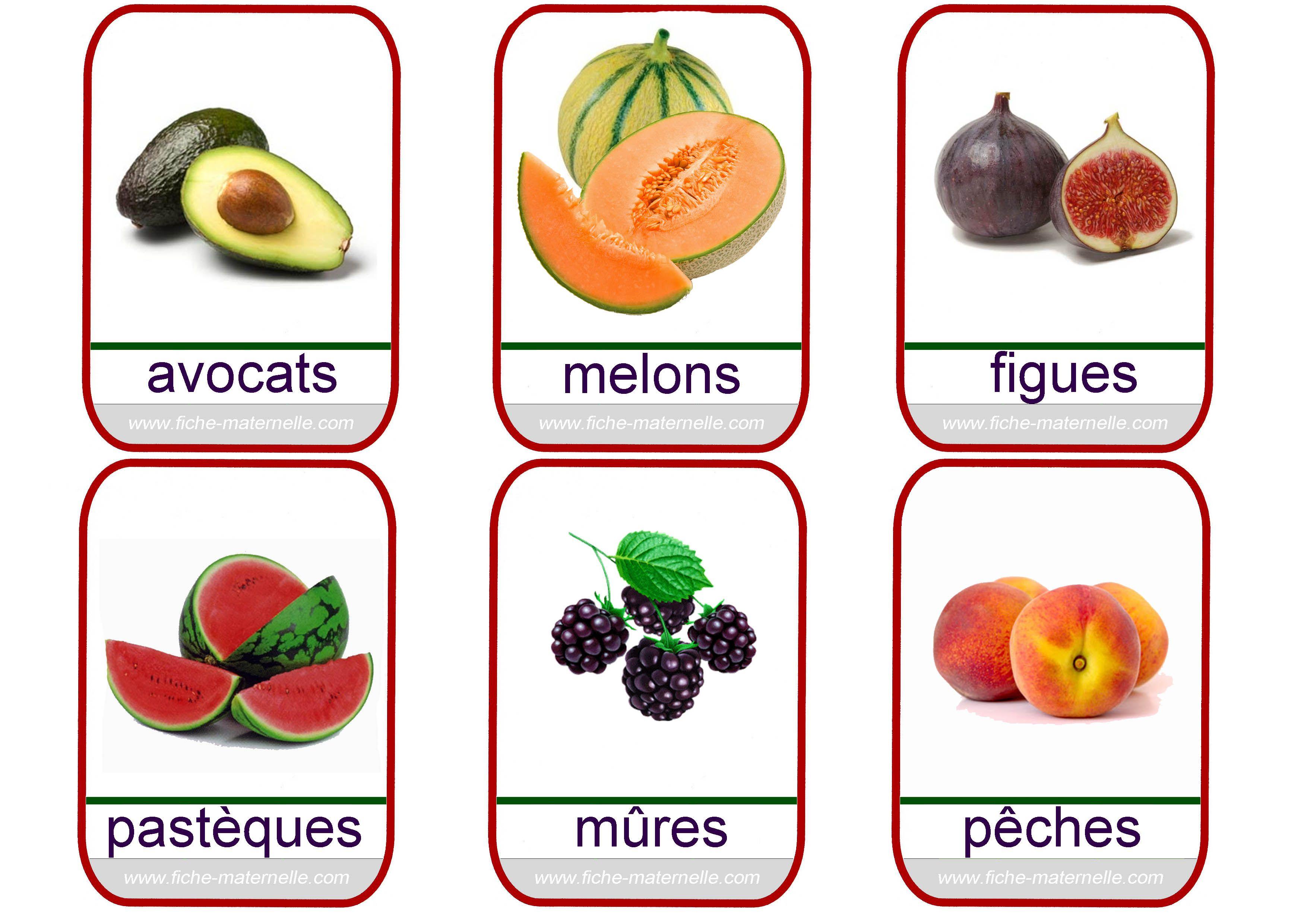 Imagier | Images fruits et légumes, Imagier et Fruit