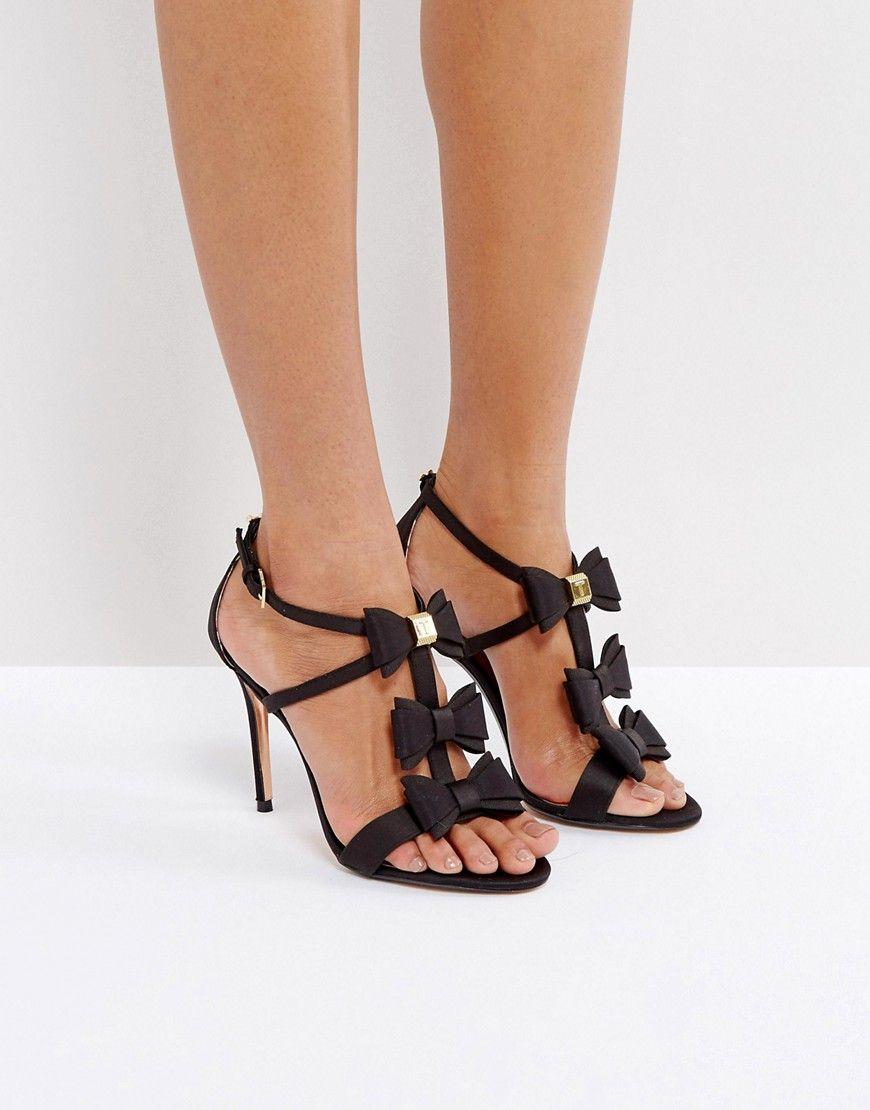 368c168f125 Ted Baker Appolini Black Bow Heeled Sandals - Black
