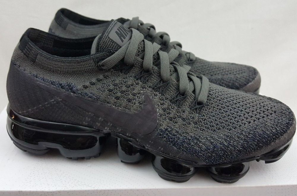 b95656c21fabe Nike Air VaporMax Flyknit Black Fog Midnight Running Shoes 849557-009 Size  5  Nike  RunningShoes