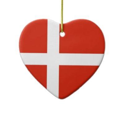 Ornament - Dannebrog; The Official Flag Of Denmark Ceramic Ornament Denmark