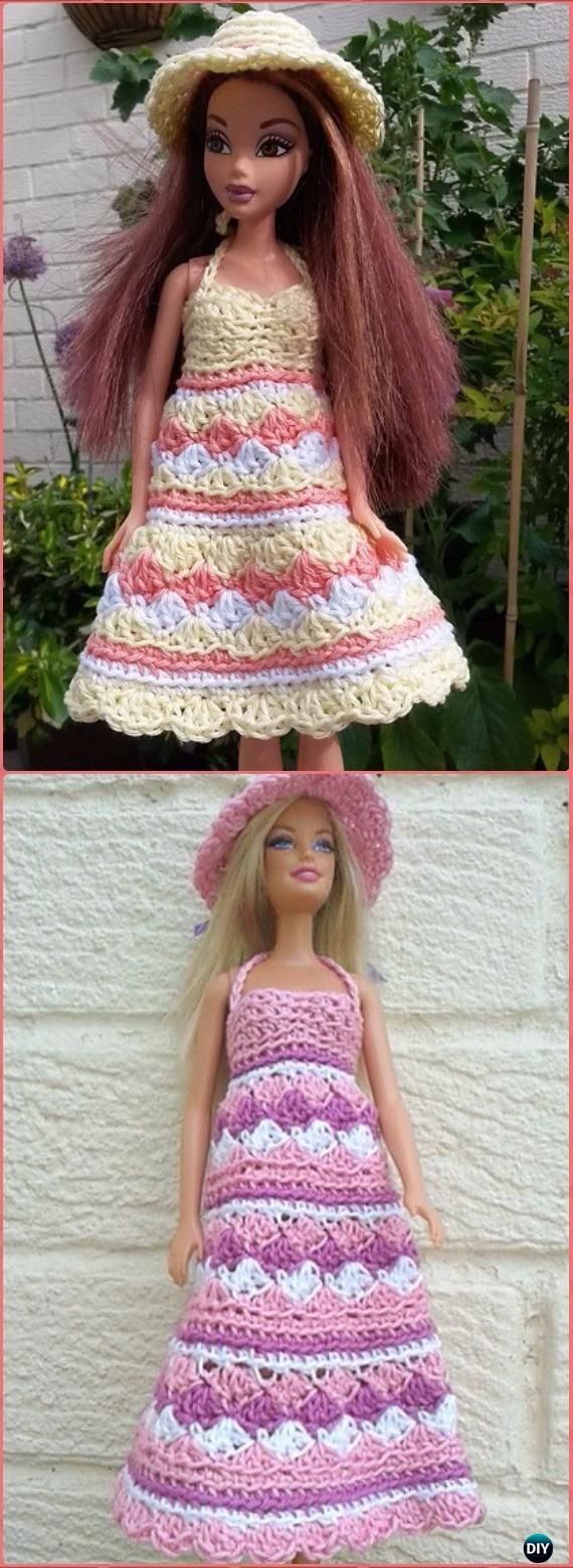 Crochet Barbie Summer Dress and Hat Free Pattern - Crochet Barbie ...