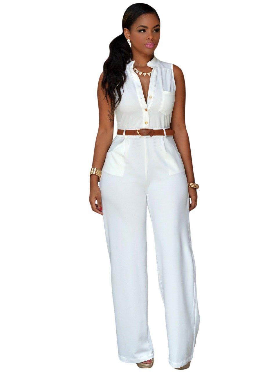 Hadleigh Elegant Long Pants Jumpsuit Clothes N Shoes Jumpsuit