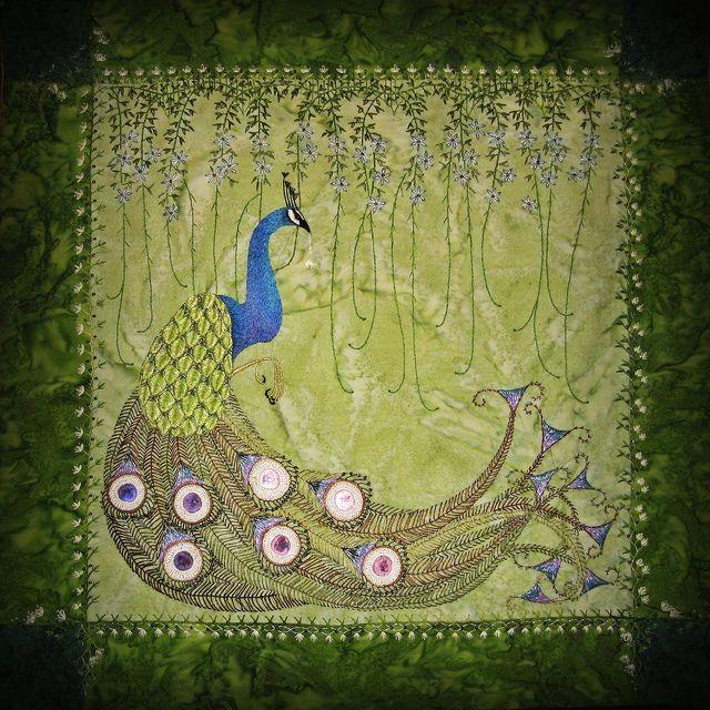 Peacock tipi hanging by Koko (dark place), via Flickr