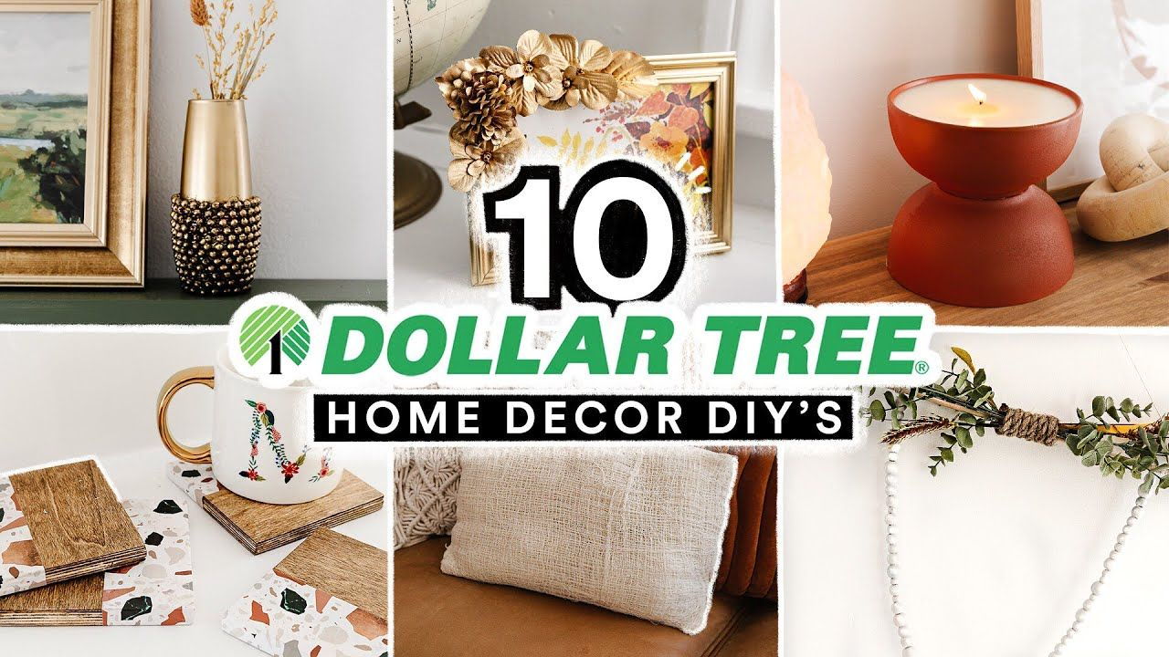 10 DIY DOLLAR TREE HOME DECOR PROJECTS Affordable + Cute