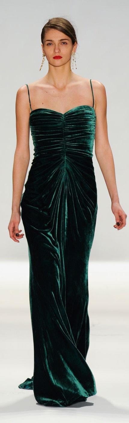 Tadashi Shoji - bridesmaid dress. Love the deep hunter green ...