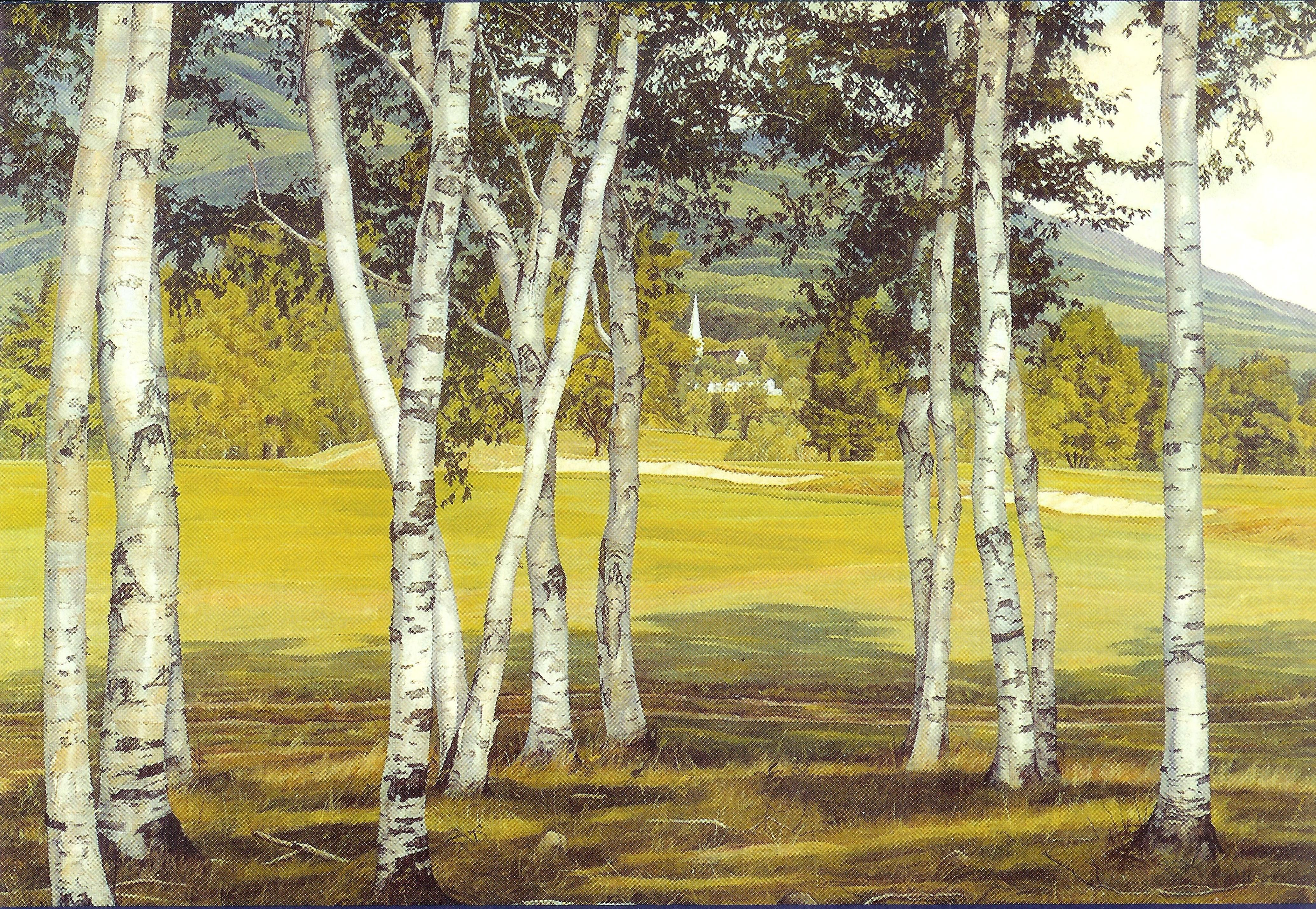 Within The Birch Grove Painted By Luigi Lucioni 1900 1988 In Manchester Vermont 1957 Landscape Art Art Still Life Art