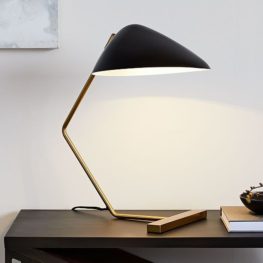 Curvilinear Mid Century Table Lamp Mid Century Table Lamp Modern Table Lamp Black Table Lamps