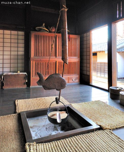 Irori traditional japanese fireplace at farmhouse for Arquitectura japonesa tradicional