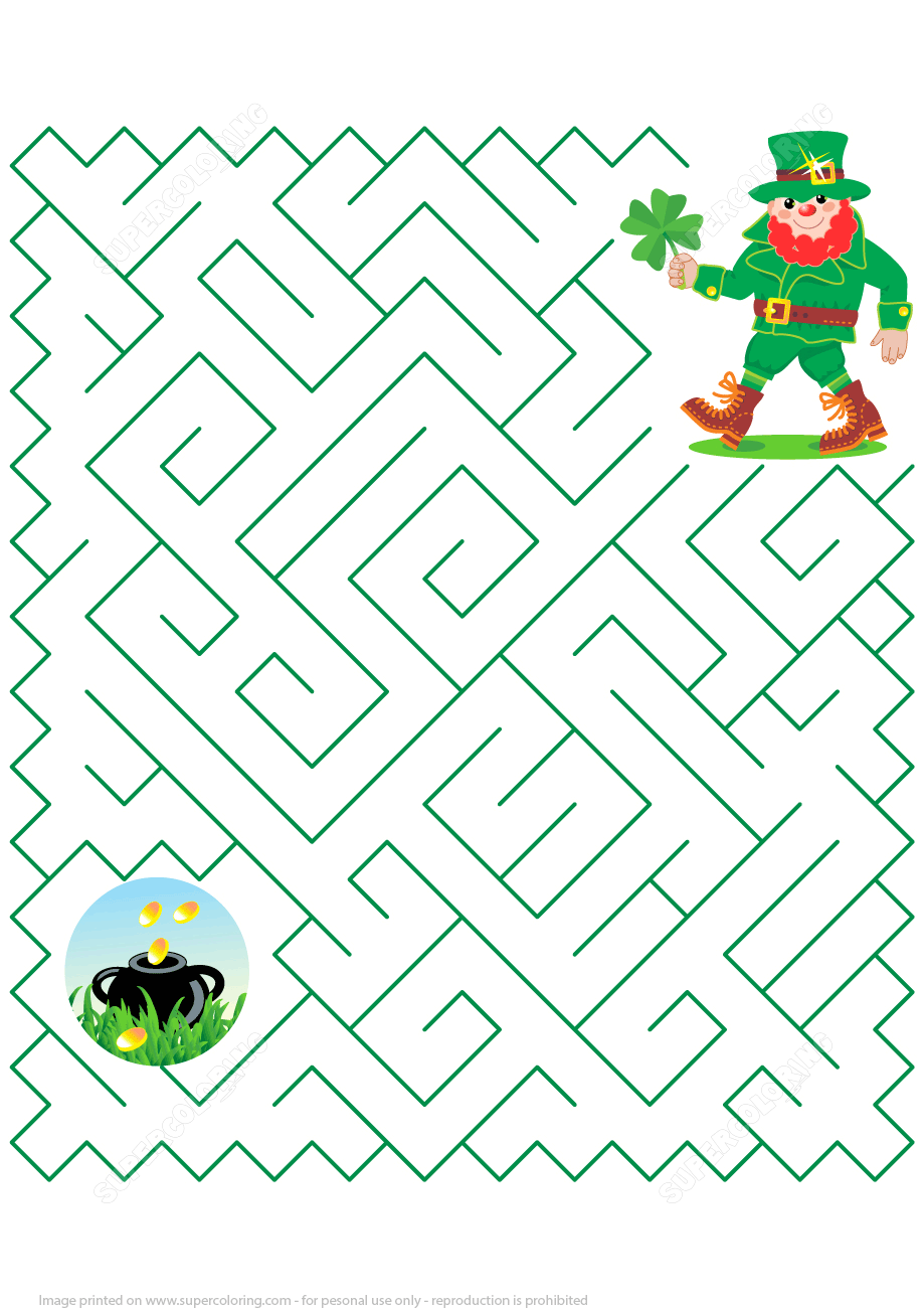 It is a graphic of Sassy St Patrick's Day Crossword Puzzle Printable