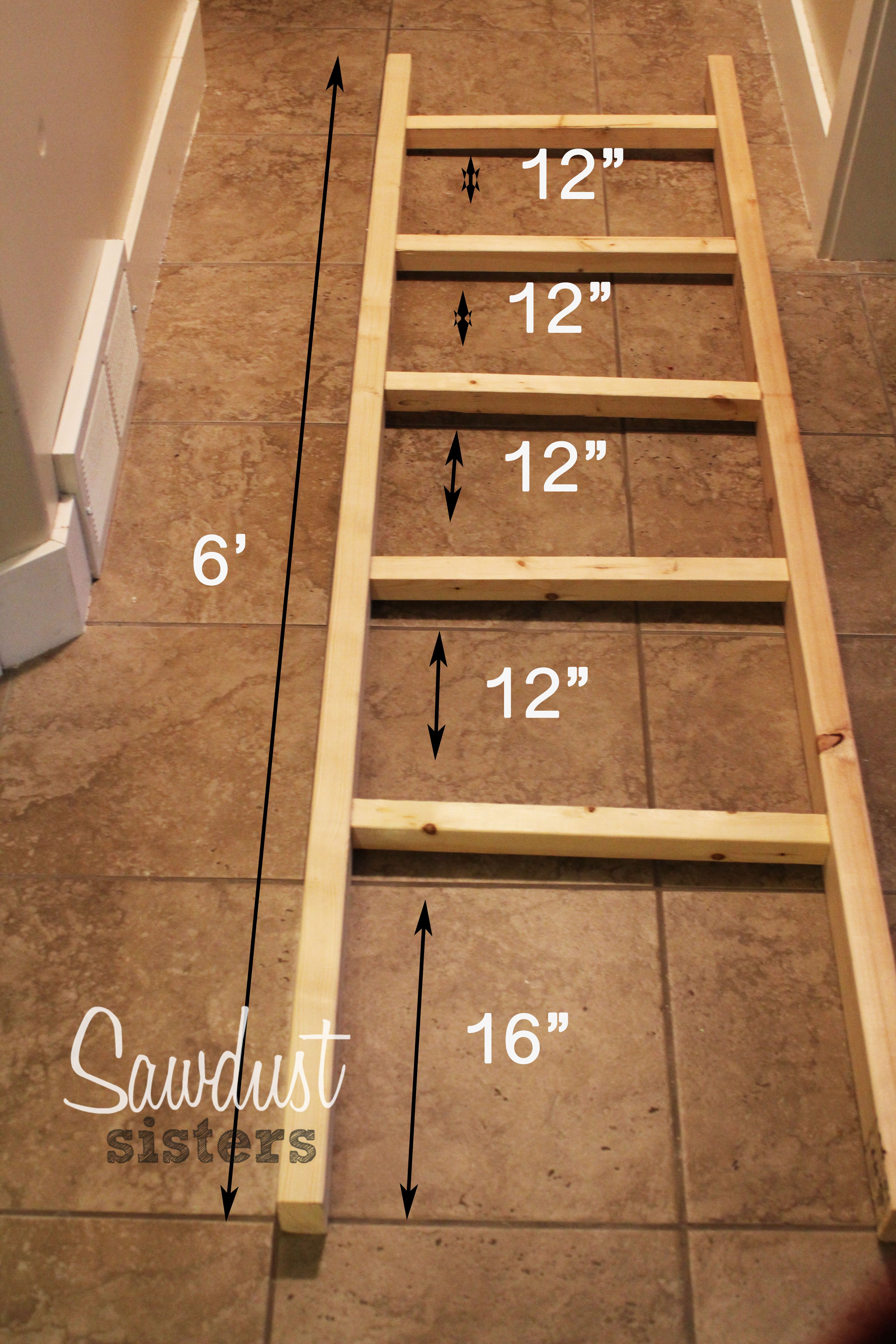 Diy Blanket Ladder With Images Diy Home Decor Projects