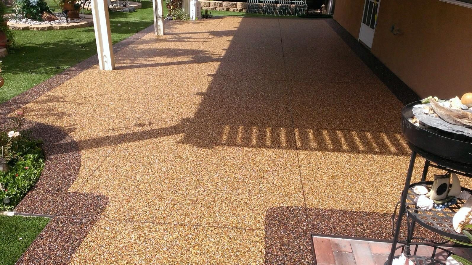 Our Pebble Stone Coatings Location In Southern California Completed A Patio  With Flint Border And Apache Fill!! It Looks Great And Our Customer Was ...