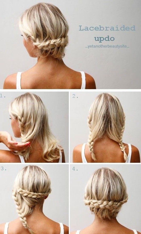 Peinado facil trenza pelo corto