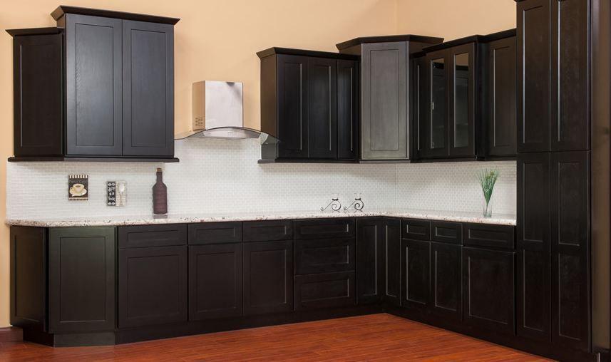 Shaker Java Kitchen Cabinets