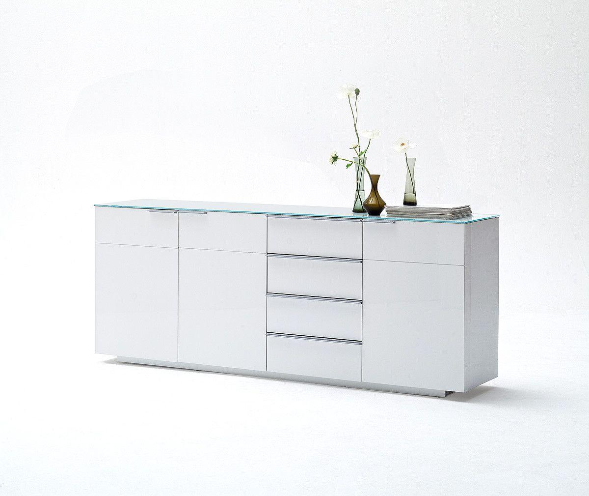 Sideboard Weiss Hochglanz Lackiert Woody 41 02139 Modern Jetzt  # Muebles Sorento