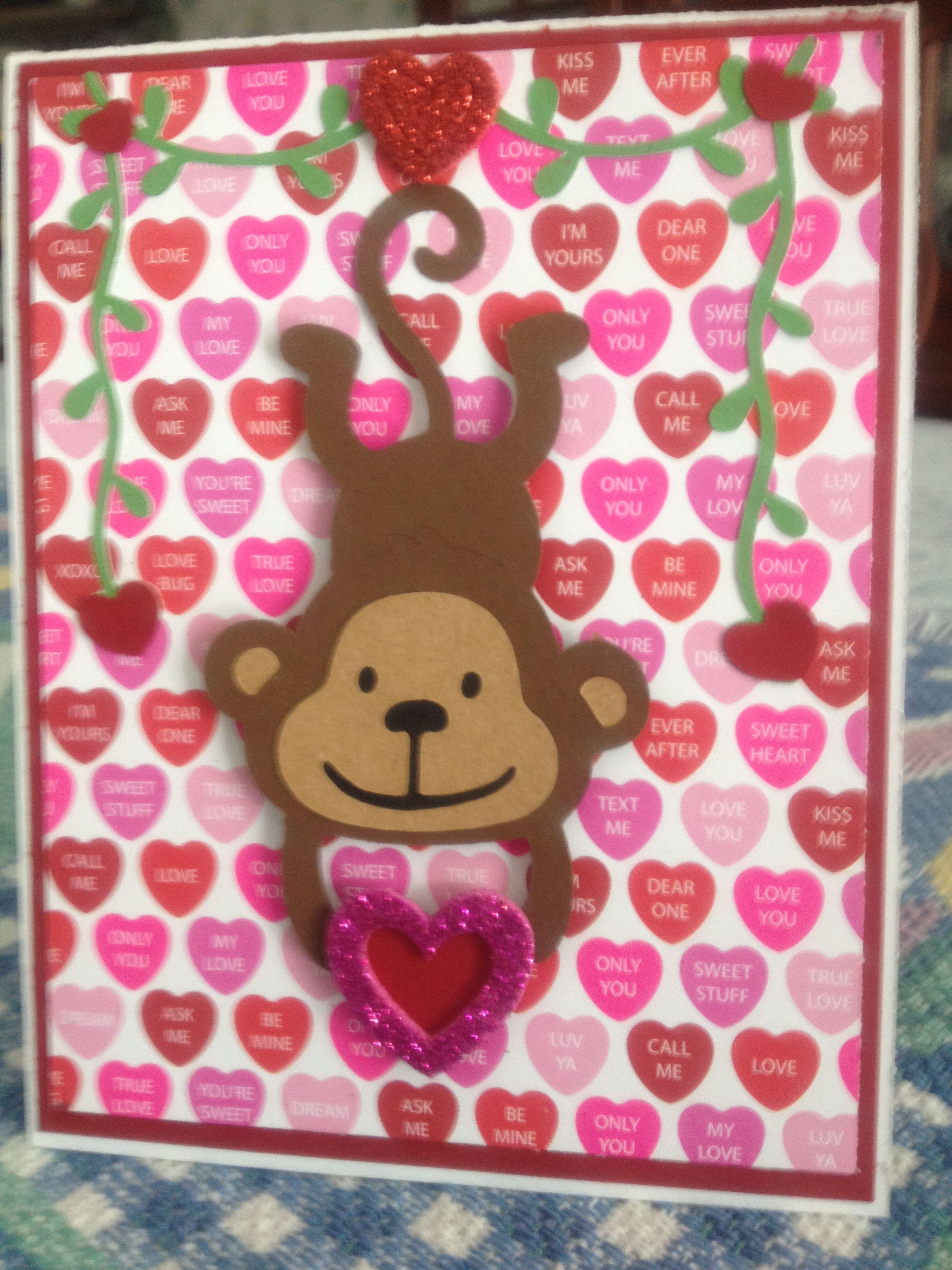 Valentine S Day Card Using Cricut Create A Critter 2 Cartridge My