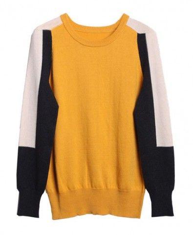 Color Block Sweater with Shoulder Details