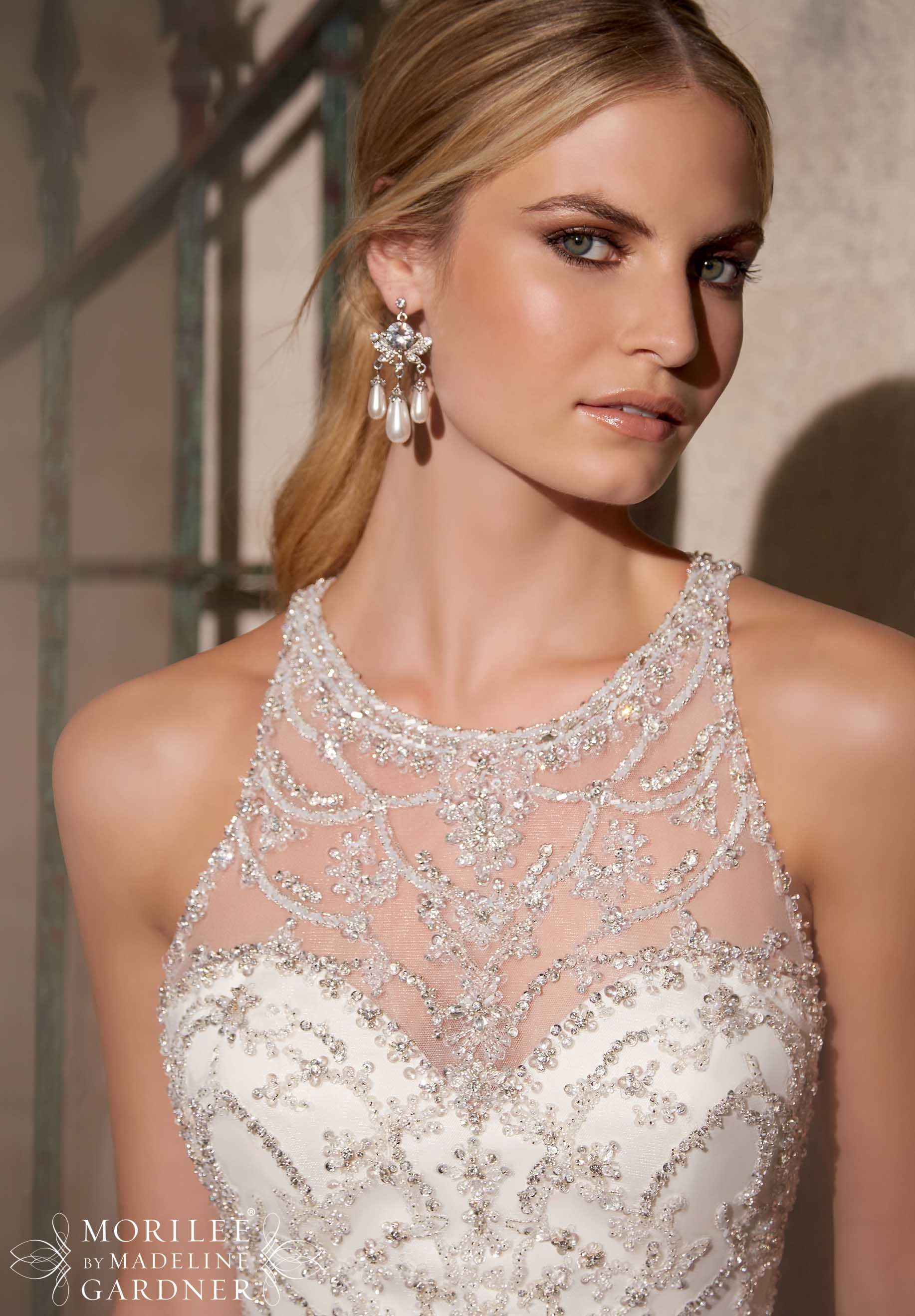 crystal wedding dresses Bridal Gowns Dresses Style Crystal Beaded Embroidery on a Tulle Ball Gown http